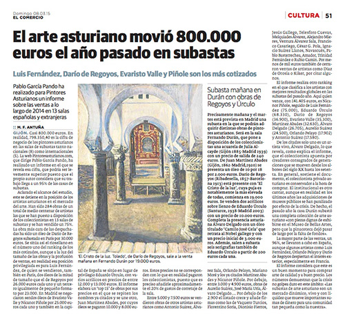 Informe del mercado del arte asturiano en El Comercio
